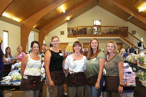 Volunteers at Wee Ones Care & Share