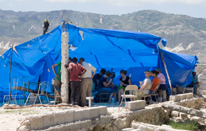 Previous shelter used by Haiti church