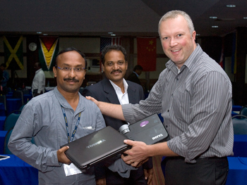 Chris Brown (right) and Prasad Sakile.