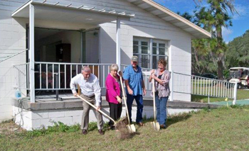 Maranatha Manor breaks ground with Jerry Webber, member of the GARBC Council of Eighteen.