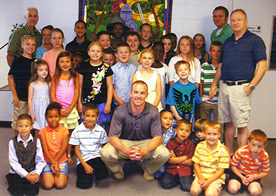 Joey Riley, who died in active duty Nov. 24, loved the kids at Memorial Baptist, Columbus, Ohio, and they loved him.