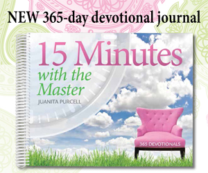 15 Minutes with the Master by Juanita Purcell | a 365-day devotional journal