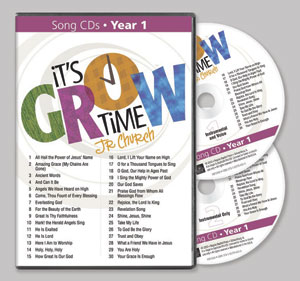 It's Grow Time Jr Church Song CDs Year 2
