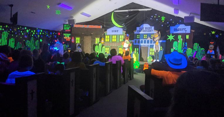 Higher Ground Baptist Church Glow in the dark VBS
