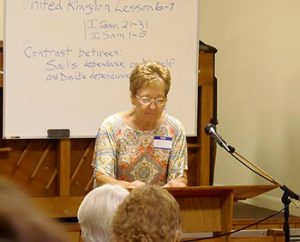 Juanita Purcell teaching Sunshine State Fellowship