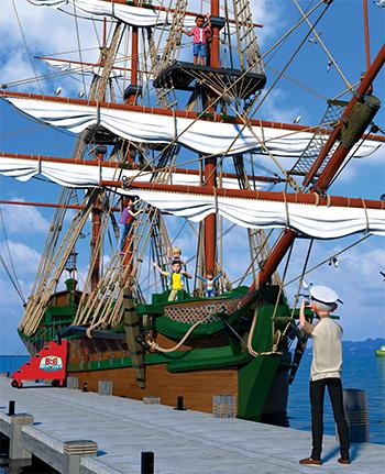 tall ship at big fish bay