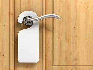 door hanger on door handle