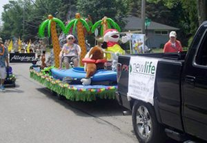 Arrow Island VBS float in local parade