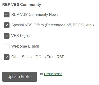 vbs community subscriptions