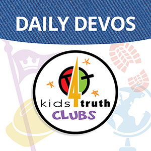 Daily Devos podcast cover by Kids4Truth Clubs