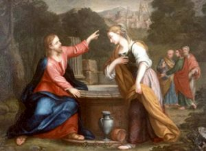 painting of Jesus speaking to the woman at the well