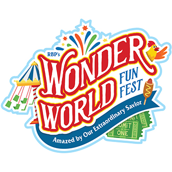 Wonder World Funfest (VBS 2020) logo, ready for shipping