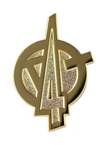 Kids4Truth gold pin with logo