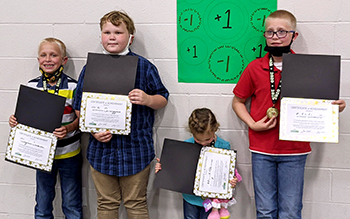 Brown Street Baptist, Alton, IL, kids hold certificates.