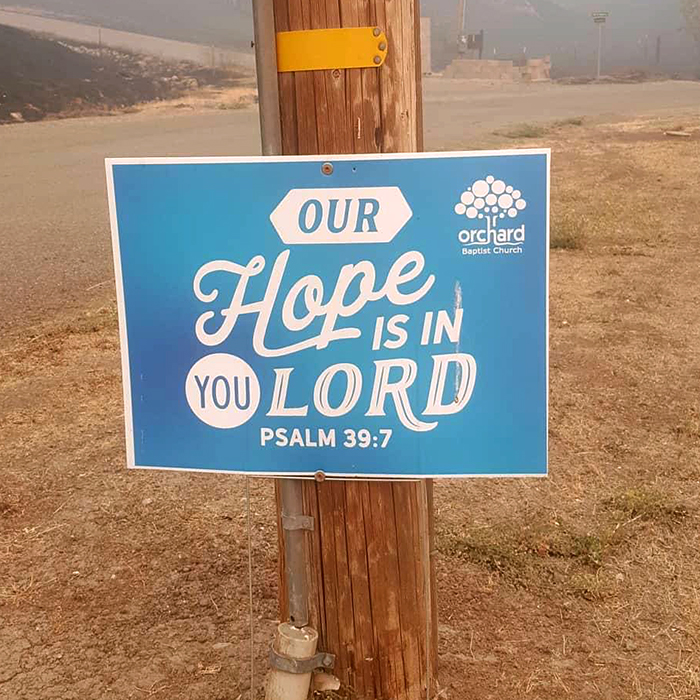 Church Members Displaced as Wildfires Rage