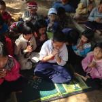 2014 VBS - outside praying
