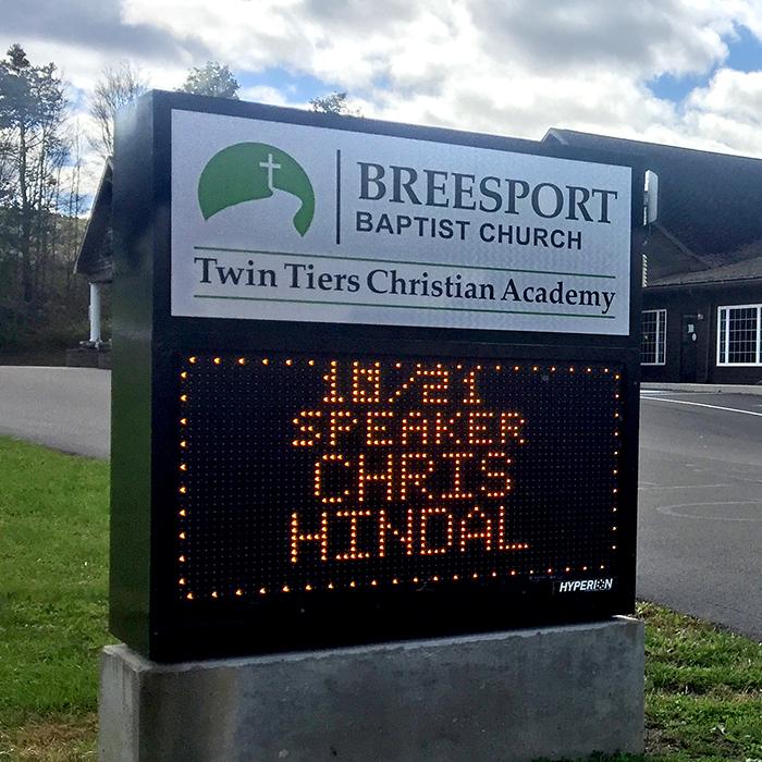 Chris Hindal Ministers in Breesport, N.Y.