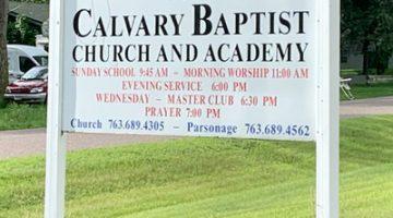 Chris Hindal Ministers at Calvary Baptist, Cambridge, Minnesota